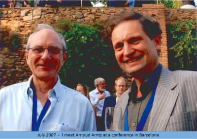 2007 I meet Arnoud Arntz in Barcelona